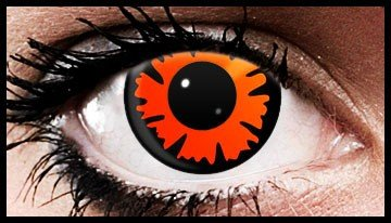 Orange Splat Crazy Coloured Contact Lenses (90 days)