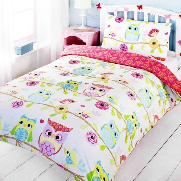 Owls & Friends Single Duvet Set