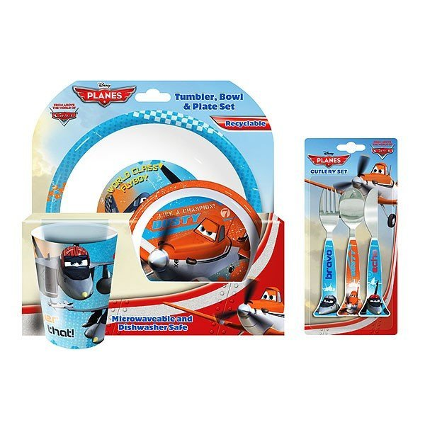 Planes 3PC Dinner and Cutlery Set