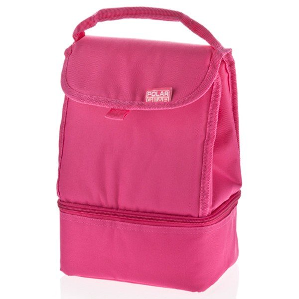 Polar Gear 2 Compartments Lunch Bag - Pink