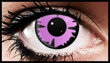 Purple Splat Crazy Coloured Contact Lenses (90 Days)