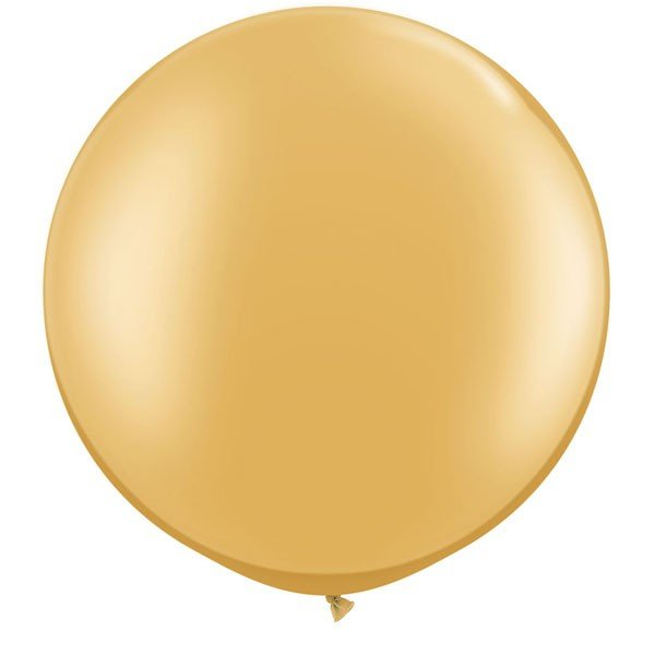 Qualatex 05 Inch Round Plain Latex Balloon - Gold