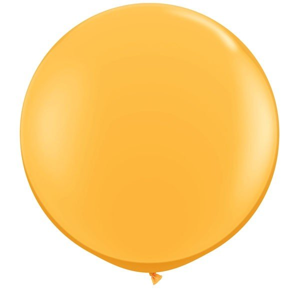 Qualatex 05 Inch Round Plain Latex Balloon - Golden Rod