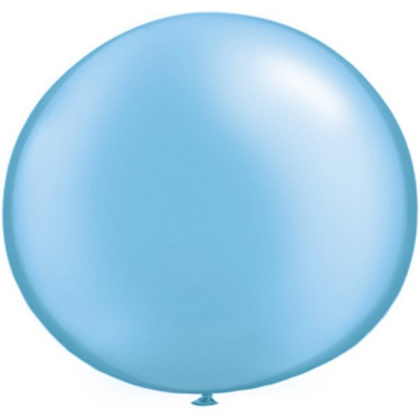 Qualatex 05 Inch Round Plain Latex Balloon - Pearl Azure