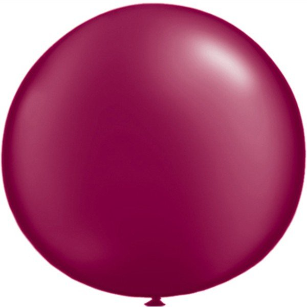 Qualatex 05 Inch Round Plain Latex Balloon - Pearl Burgandy