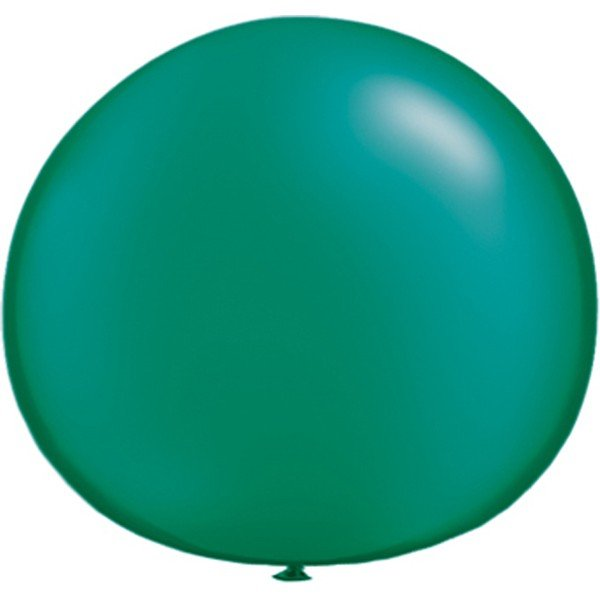 Qualatex 05 Inch Round Plain Latex Balloon - Pearl Emerald