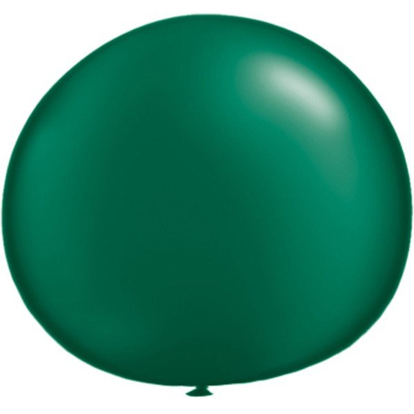 Qualatex 05 Inch Round Plain Latex Balloon - Pearl Forest Green