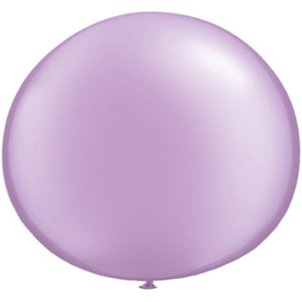 Qualatex 05 Inch Round Plain Latex Balloon - Pearl Lavender