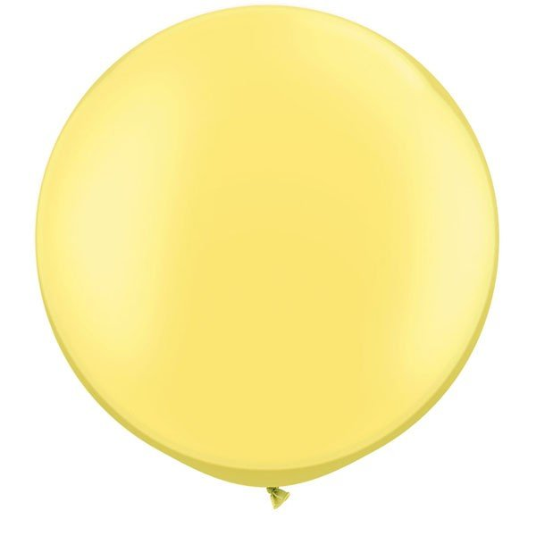 Qualatex 05 Inch Round Plain Latex Balloon - Pearl Lemon