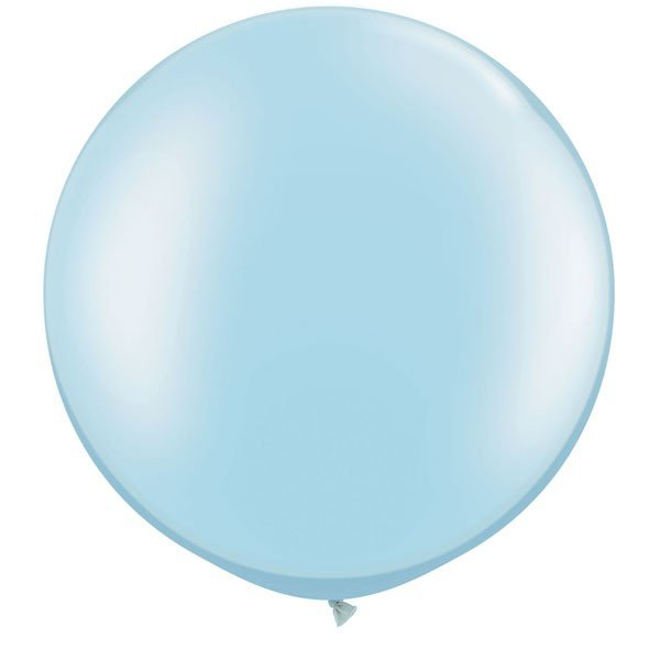 Qualatex 05 Inch Round Plain Latex Balloon - Pearl Lite Blue