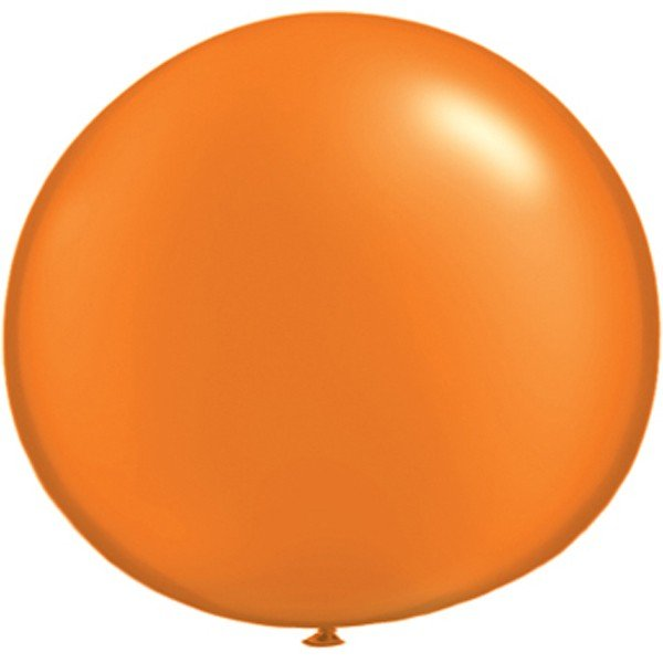 Qualatex 05 Inch Round Plain Latex Balloon - Pearl Mandarin