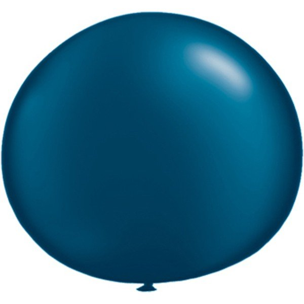 Qualatex 05 Inch Round Plain Latex Balloon - Pearl Midnt Blue