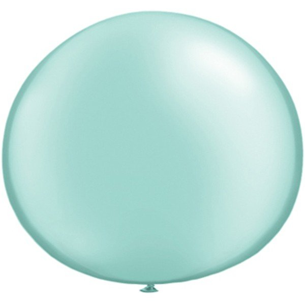 Qualatex 05 Inch Round Plain Latex Balloon - Pearl Mint Green