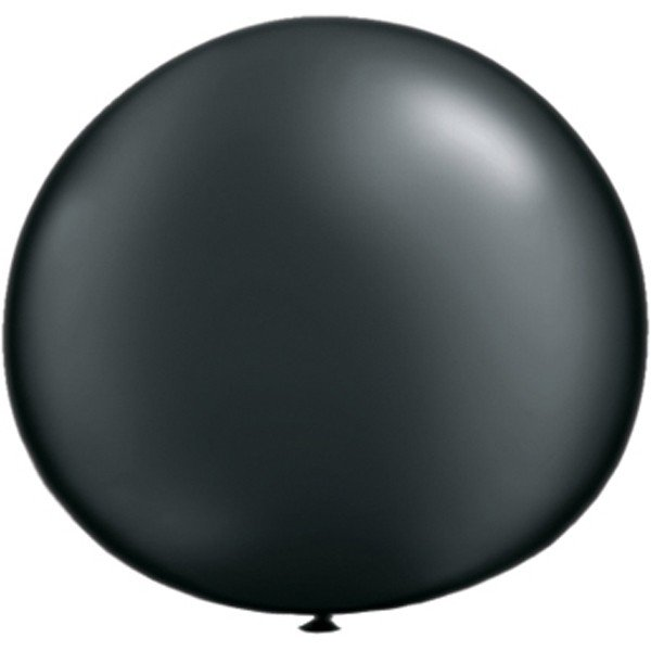 Qualatex 05 Inch Round Plain Latex Balloon - Pearl Onyx Black