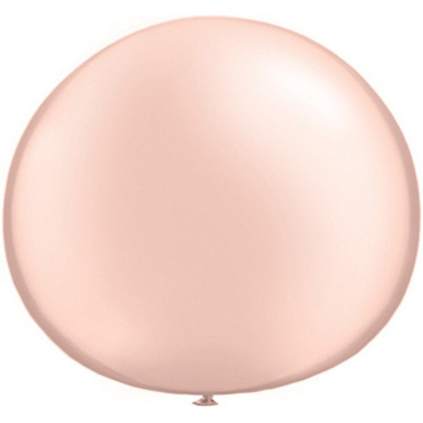Qualatex 05 Inch Round Plain Latex Balloon - Pearl Peach