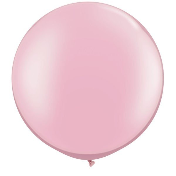 Qualatex 05 Inch Round Plain Latex Balloon - Pearl Pink