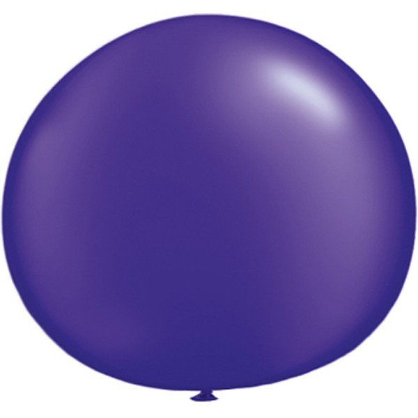 Qualatex 05 Inch Round Plain Latex Balloon - Pearl Quartz Purple