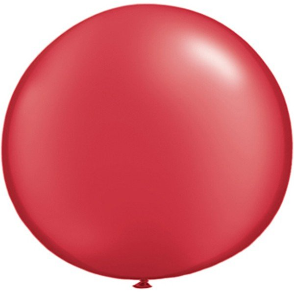 Qualatex 05 Inch Round Plain Latex Balloon - Pearl Ruby Red