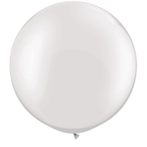 Qualatex 05 Inch Round Plain Latex Balloon - Pearl White