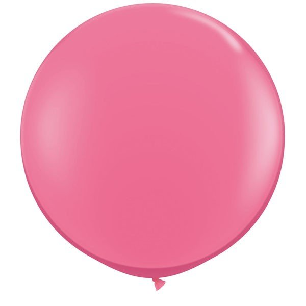 Qualatex 05 Inch Round Plain Latex Balloon - Rose