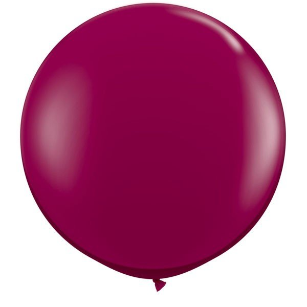 Qualatex 05 Inch Round Plain Latex Balloon - Sparkling Burgandy