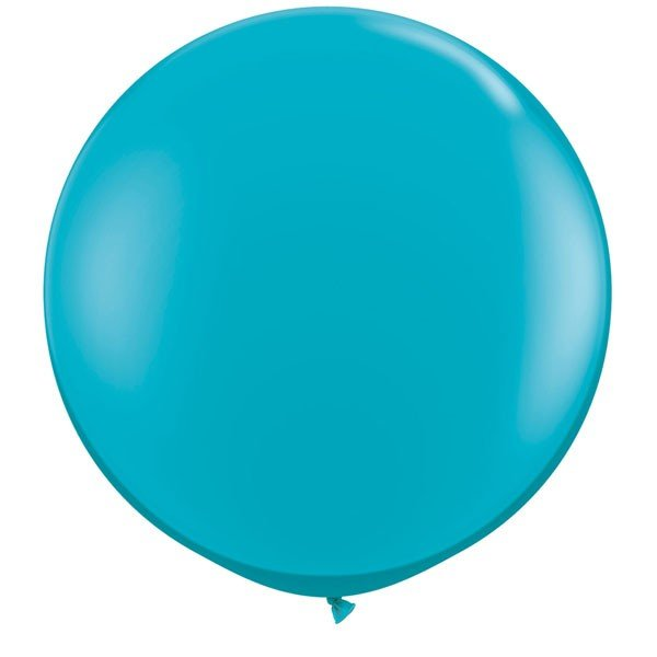 Qualatex 05 Inch Round Plain Latex Balloon - Tropical Teal