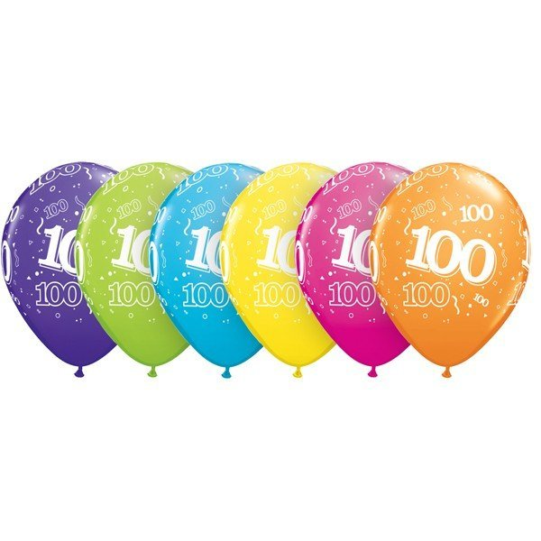 Qualatex 11 Inch Assorted Latex Balloon - 100 Around