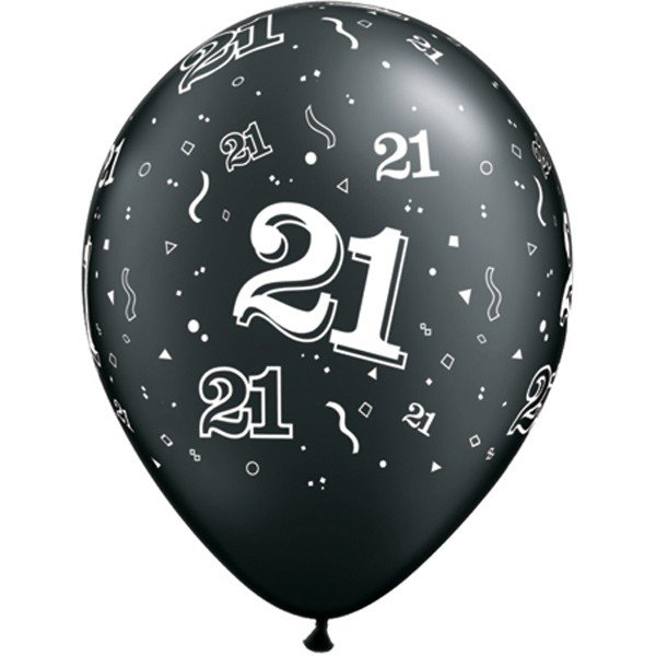 Qualatex 11 Inch Assorted Latex Balloon - 21 Around