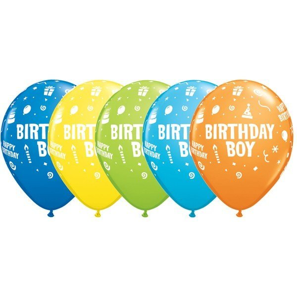 Qualatex 11 Inch Assorted Latex Balloon - Boy