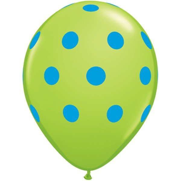 Qualatex 11 Inch Assorted Latex Balloon - Colorful Polka
