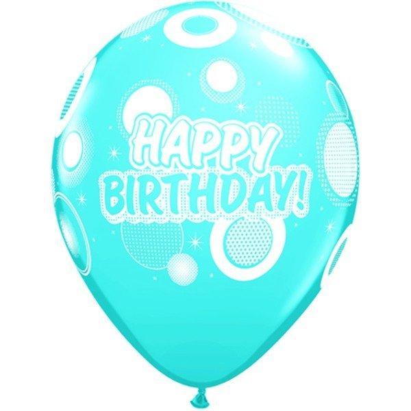 Qualatex 11 Inch Assorted Latex Balloon - Dots & Glitz