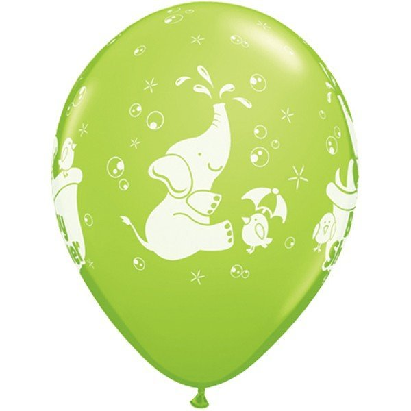 Qualatex 11 Inch Assorted Latex Balloon - Elephant Baby