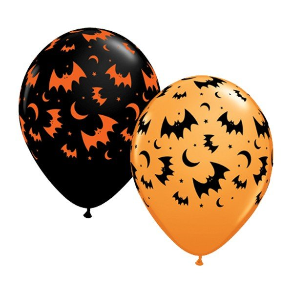 Qualatex 11 Inch Assorted Latex Balloon - Flying Bats & Moons