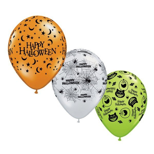 Qualatex 11 Inch Assorted Latex Balloon - Halloween