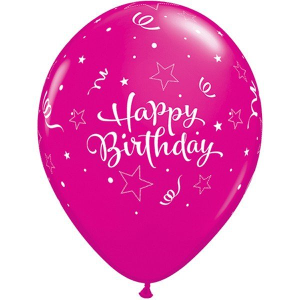 Qualatex 11 Inch Assorted Latex Balloon - Pink Star