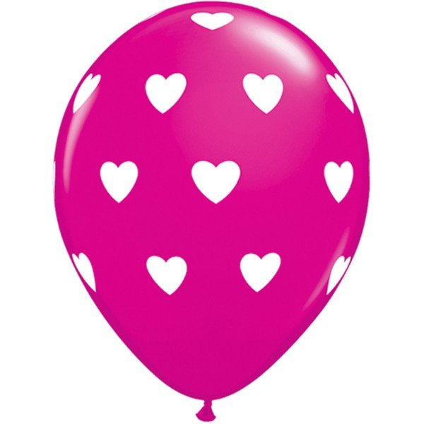 Qualatex 11 Inch Assorted Latex Balloon - Pink Wild Berry
