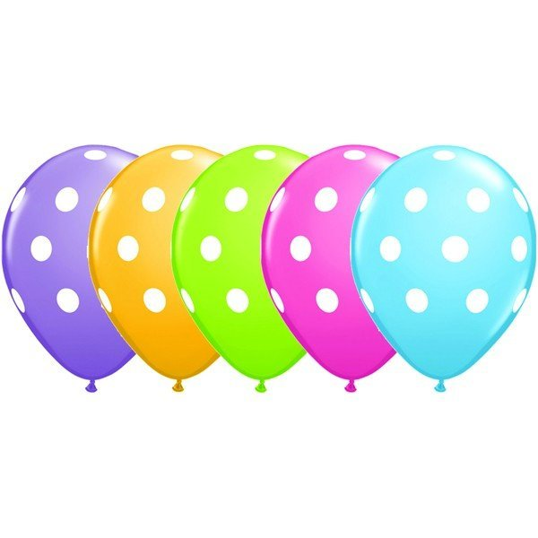 Qualatex 11 Inch Assorted Latex Balloon - Rose Polka