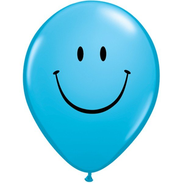 Qualatex 11 Inch Assorted Latex Balloon - Smile Face