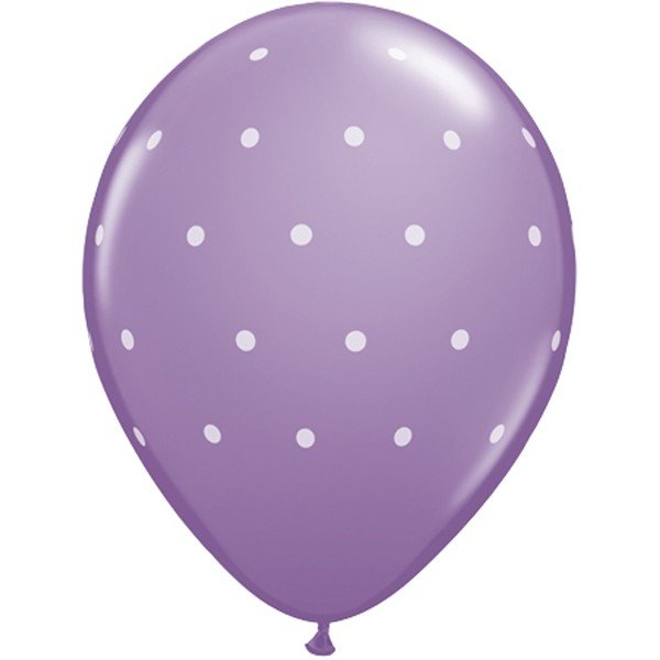 Qualatex 11 Inch Assorted Latex Balloon - Special Small Polka