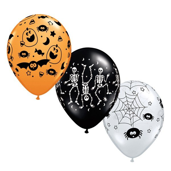 Qualatex 11 Inch Assorted Latex Balloon - Spooky