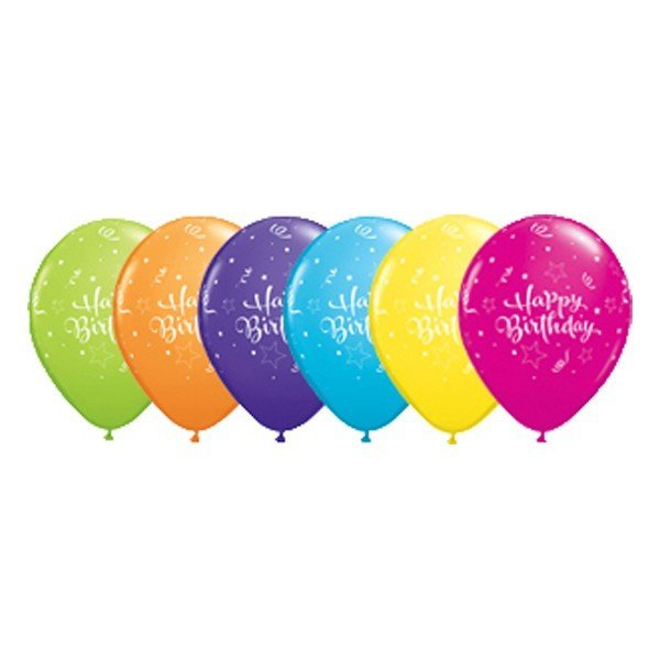 Qualatex 11 Inch Assorted Latex Balloon - Tropical Star