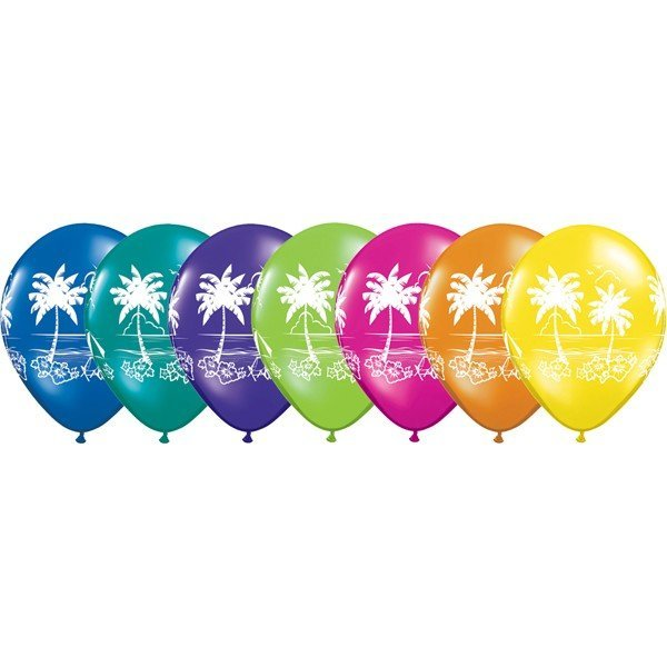 Qualatex 11 Inch Assorted Latex Balloon - Tropical Vistas