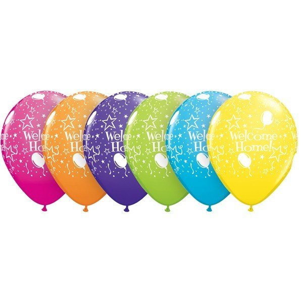 Qualatex 11 Inch Assorted Latex Balloon - Welcome Home