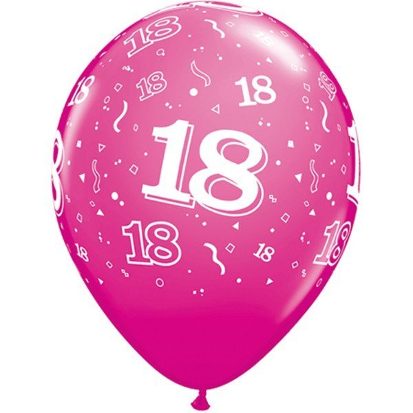 Qualatex 11 Inch Berry Latex Balloon - 18 Around