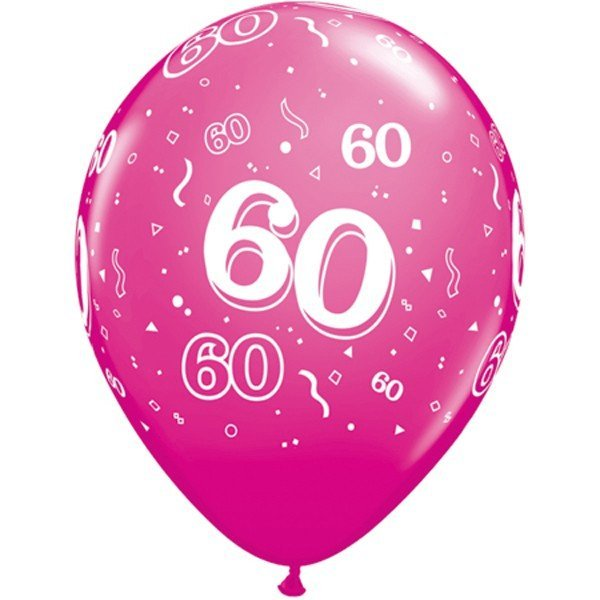 Qualatex 11 Inch Berry Latex Balloon - 60 Around