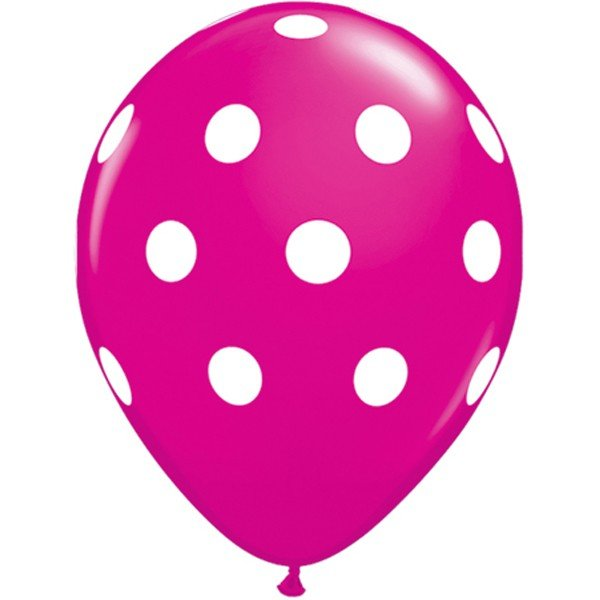 Qualatex 11 Inch Berry Latex Balloon - Big Polka