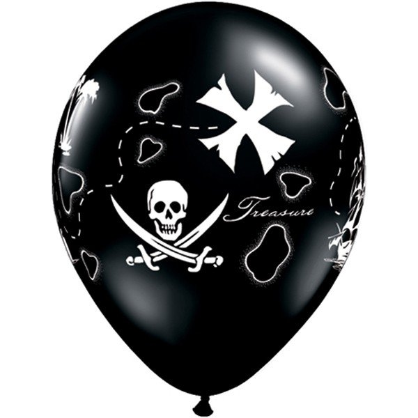 Qualatex 11 Inch Black Latex Balloon - Pirate Treasure