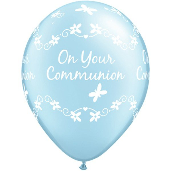Qualatex 11 Inch Blue Latex Balloon - Communion Butterflies