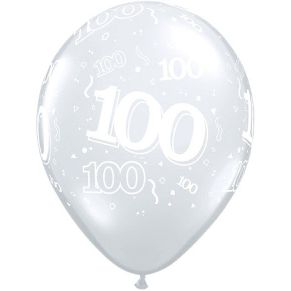 Qualatex 11 Inch Clear Latex Balloon - 100 Around