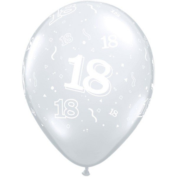 Qualatex 11 Inch Clear Latex Balloon - 18 Around